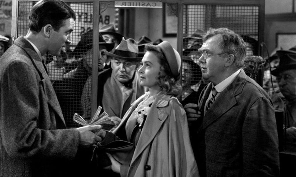 George Bailey et son épouse utilisent l'argent de leur lune de miel pour sauver leur entreprise.