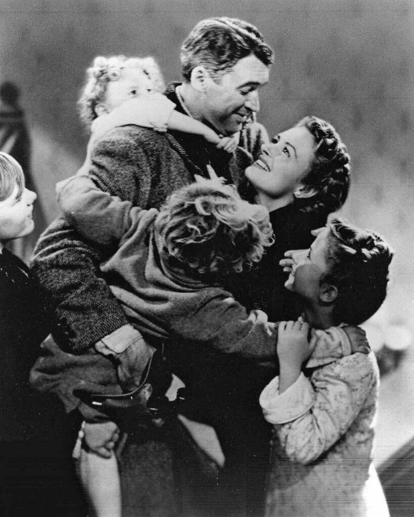George Bailey et sa famille réunie